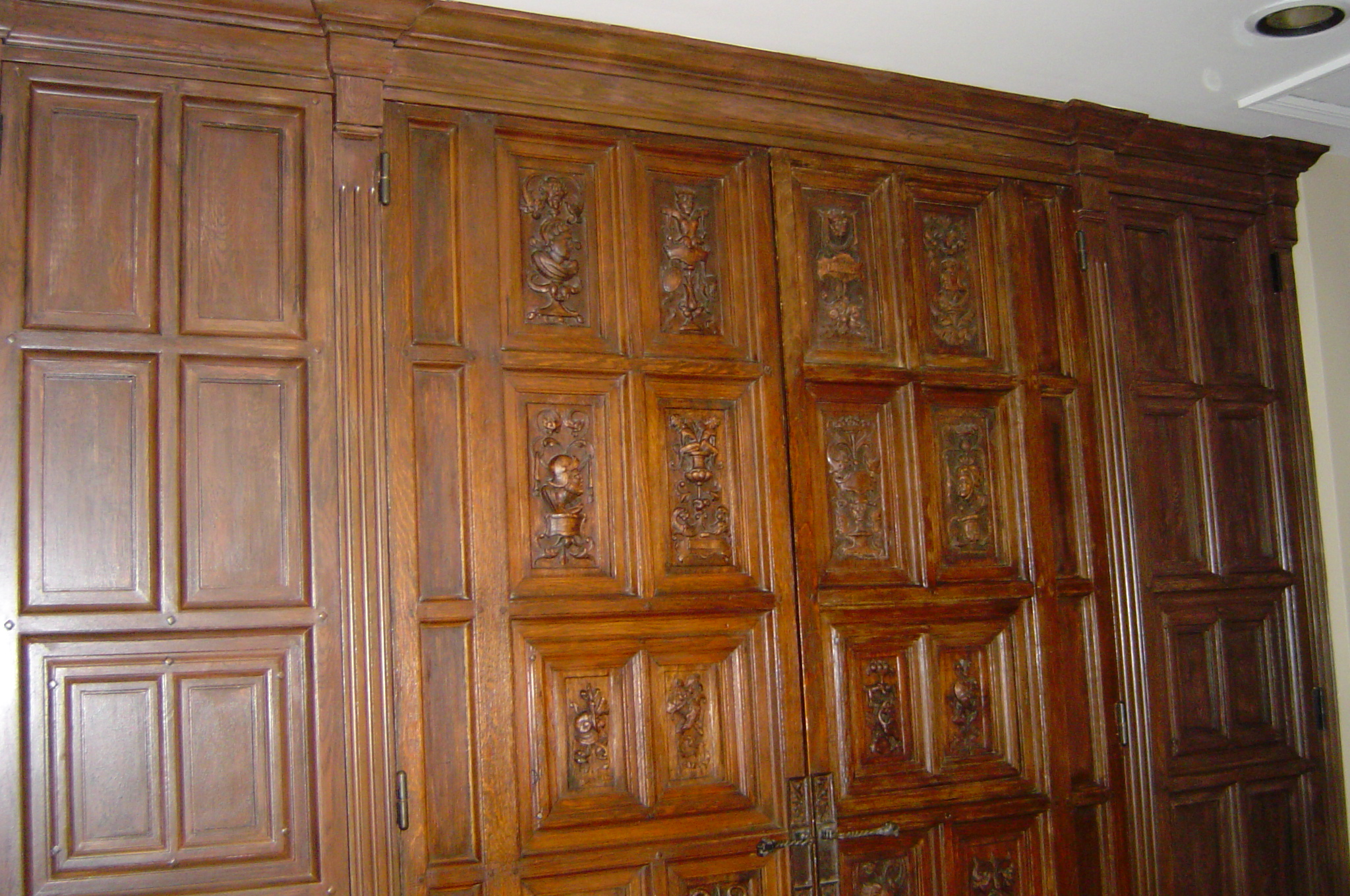 Can You Paint Faux Wood Blinds Part - 50: Newly Constructed Architectural Trim And Door Panels Painted With A Faux  Wood-grain To Replicate