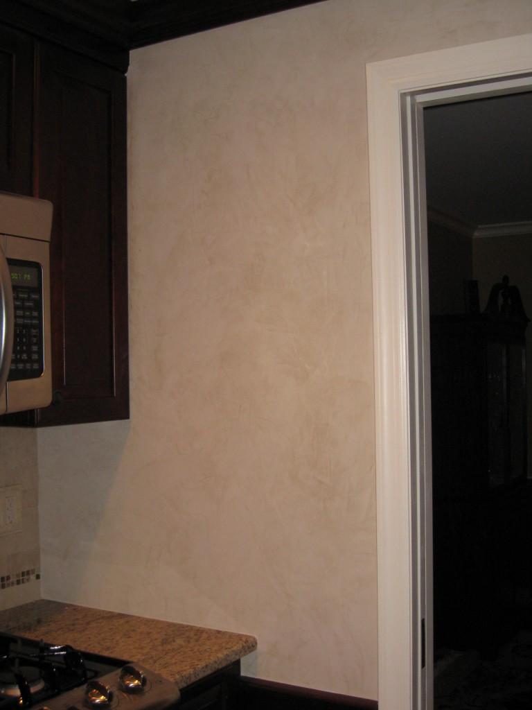 """""""Veneciano"""" venetian plaster in kitchen."""