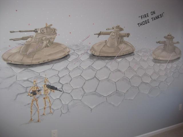 "Star Wars ""Clone Wars"" mural."