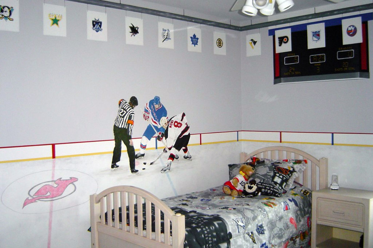 Hockey Wall Mural Images home design wall stickers