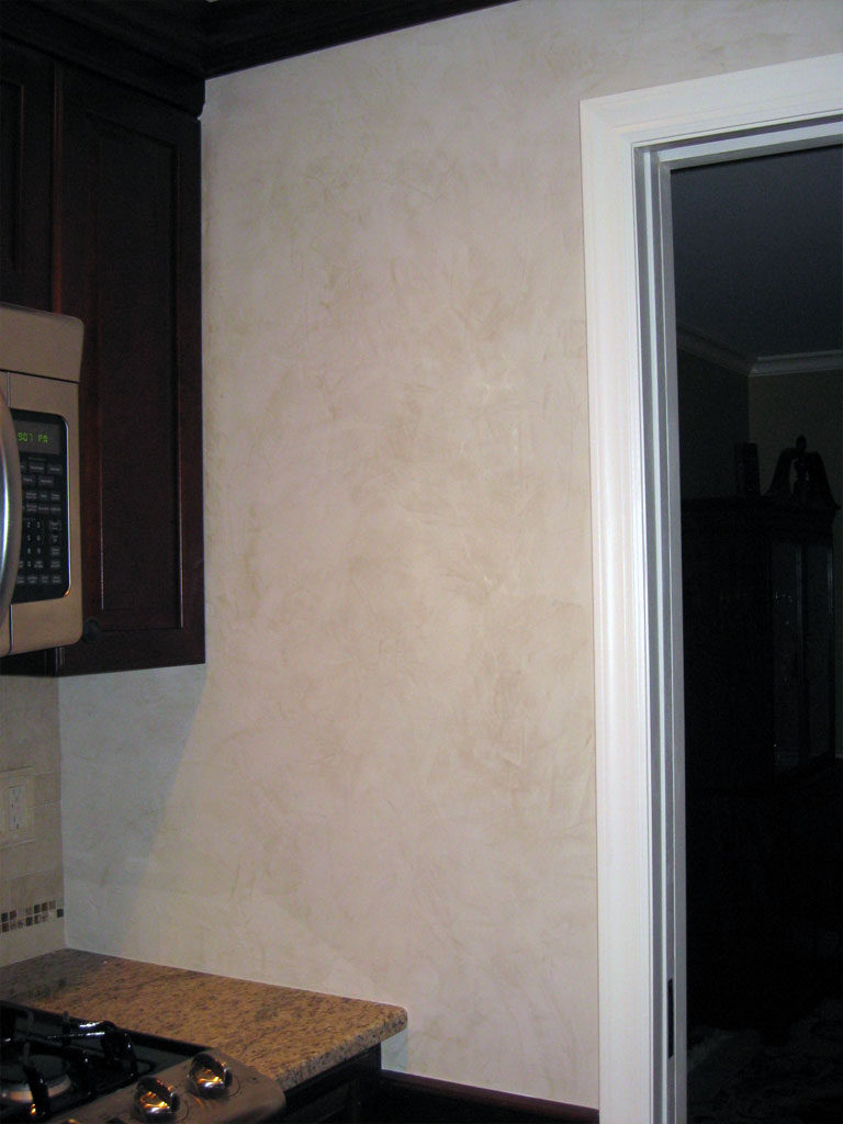 """Veneciano"" smooth venetian plaster in kitchen."