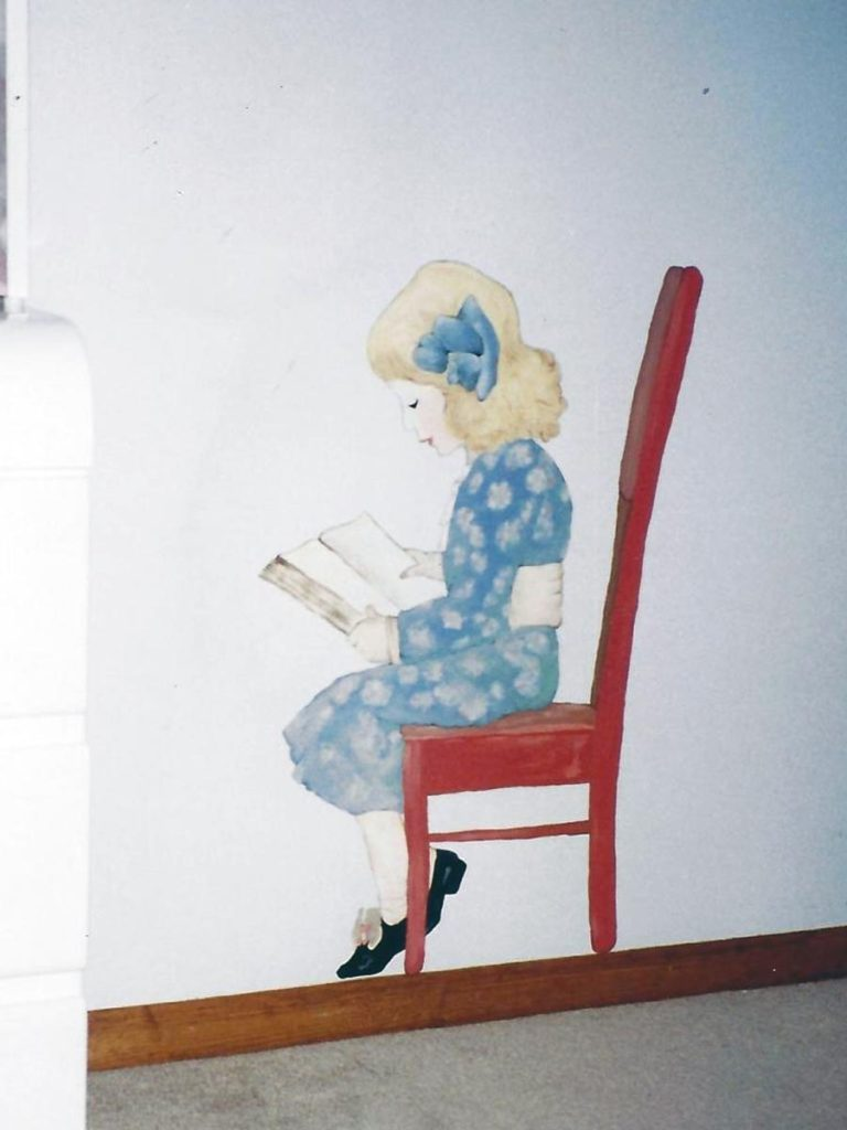 Detail of reading girl.