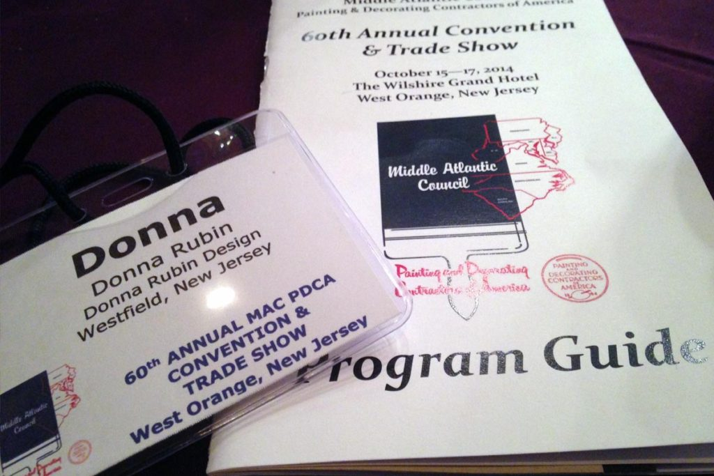 My program and name tag.