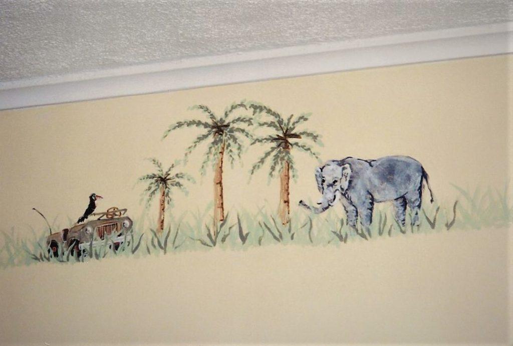Painted jungle theme border