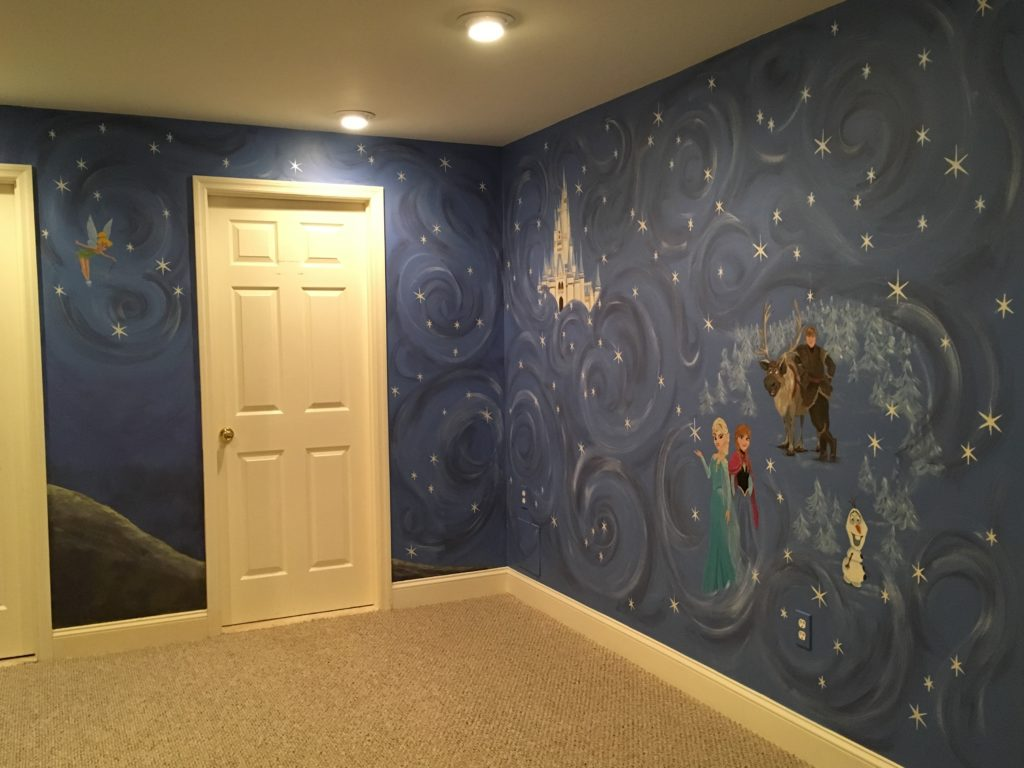 Magical disney theme mural