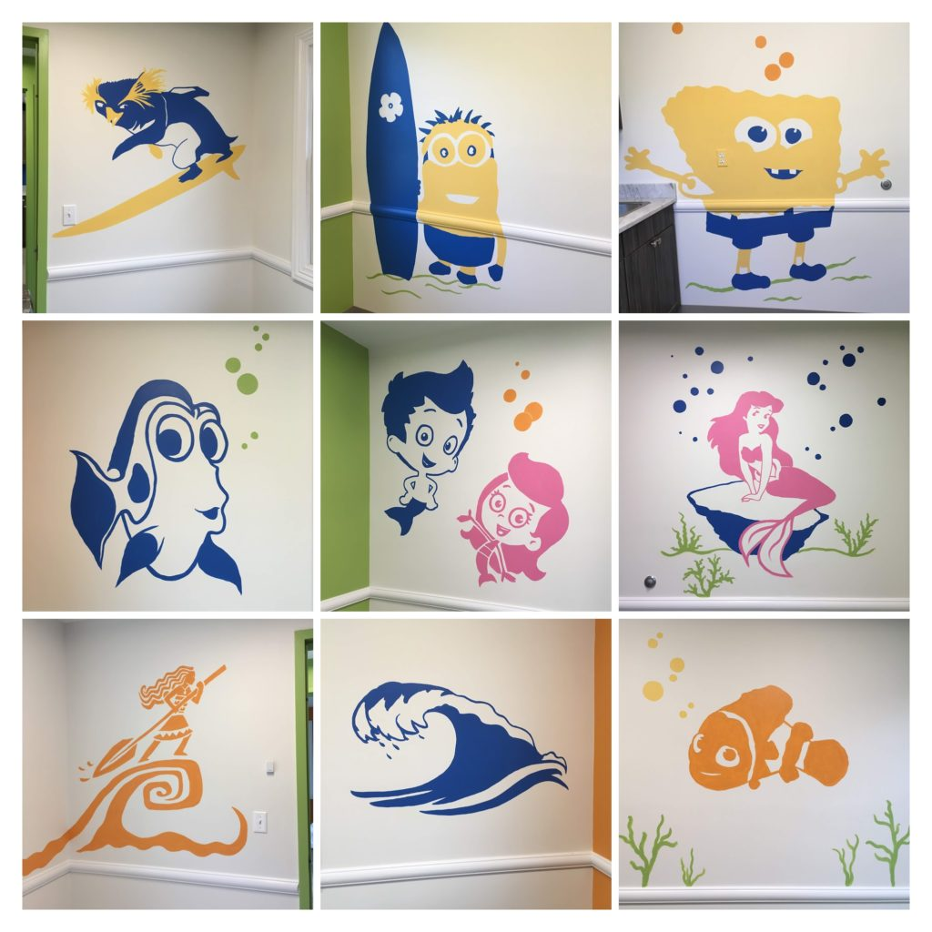 Pediatrician's exam room art (composite photo)